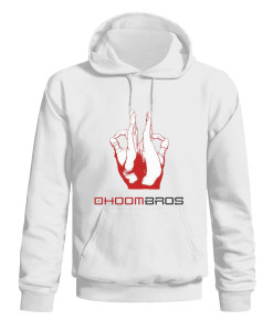 dhoombros white hoodie